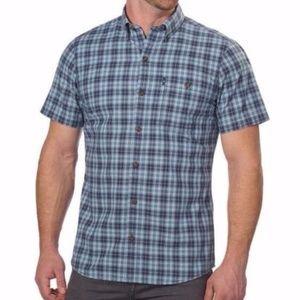 G. H. Bass Men's Plaid Short Sleeve Shirt - Size L